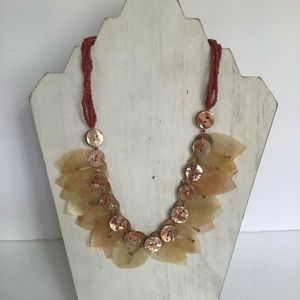 Authentic leaf necklace